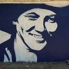 Граффити с Назарбаевым снова перекрасили