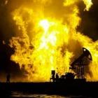 На месторождении Каламкас загорелась скважина