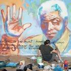 На стенах в колонии Казахстана появился мурал Нельсона Манделы
