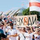 В Минске 100 тысяч человек вышли на народную инаугурацию Тихановской