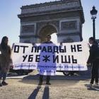 В Лондоне и Париже прошли акции в поддержку активистов, задержанных на марафоне в Алматы 21 апреля