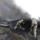 Небо в дыму: В Алматы тушили крупный пожар на складах