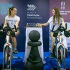 В Алматы провели велошах: игру в шахматы с велотренажера