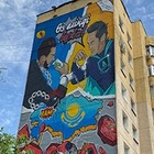 В Алматы появился мурал на тему борьбы с коррупцией