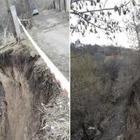 В Медеуском районе Алматы обрушился участок дороги