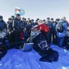 Экипаж космического корабля приземлился в Карагандинской области