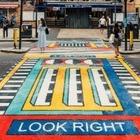 В Лондоне на пешеходных переходах появились рисунки французского дизайнера