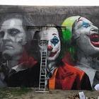 Изображение Джокера появилось на стене в Алматы