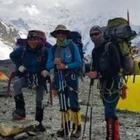 КЧС РК продолжили поиск пропавших альпинистов