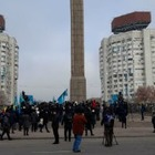 В Алматы начались митинги на Новой площади