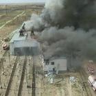 Административное здание и цех сгорели в Арысе