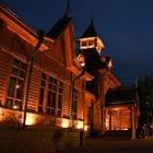 Знаковые здания Алматы украсили неоновые подсветки