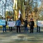 За «Сары-Аркой» прошел митинг за права трудящихся