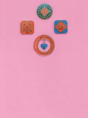 Пины с казахским орнаментом