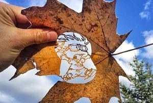 Я делал иллюстрации на листьях для Nickelodeon