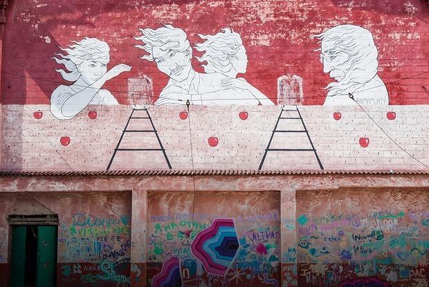 Граффити и муралы Алматы