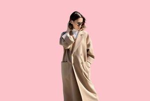 Кашемировое пальто отечественного бренда Aya Rabbim