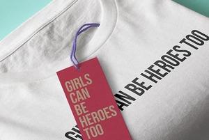 Хлопковые футболки с надписью Girls can be heroes too для сильных девушек