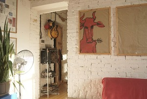 Квартира с высокими потолками в цековском доме в стиле лофт