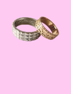 Обручальные кольца с элементами архитектуры Алматы